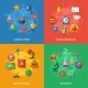 Back To School Concept With Flat Icons.  - GraphicRiver Item for Sale