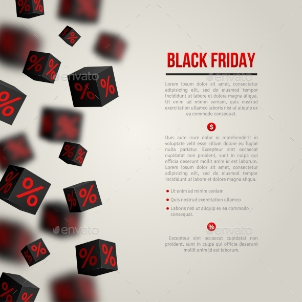 GraphicRiver Black Friday Sale Poster Vector Illustration 11874185