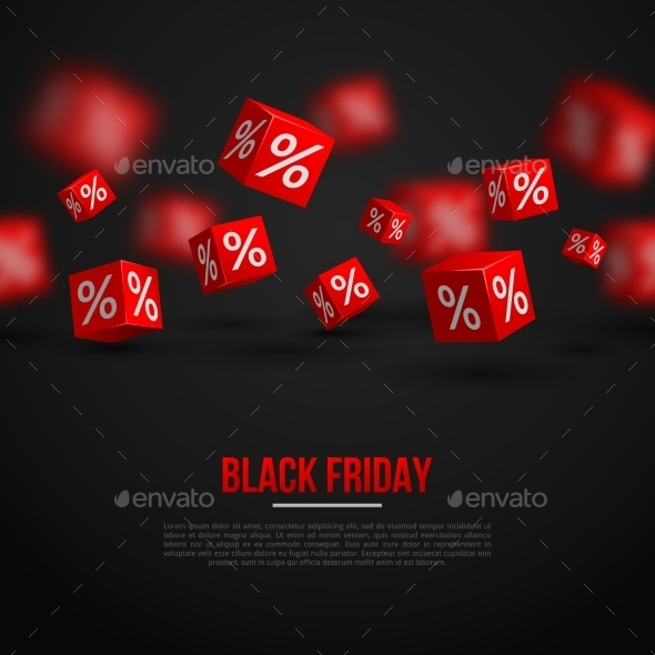 GraphicRiver Black Friday Sale Poster Vector Illustration 11874188