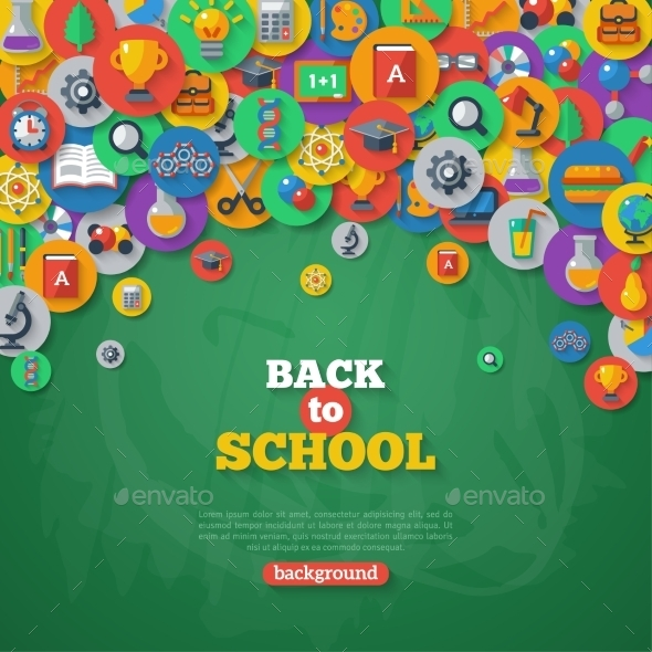GraphicRiver Back To School Background Vector Illustration 11874194