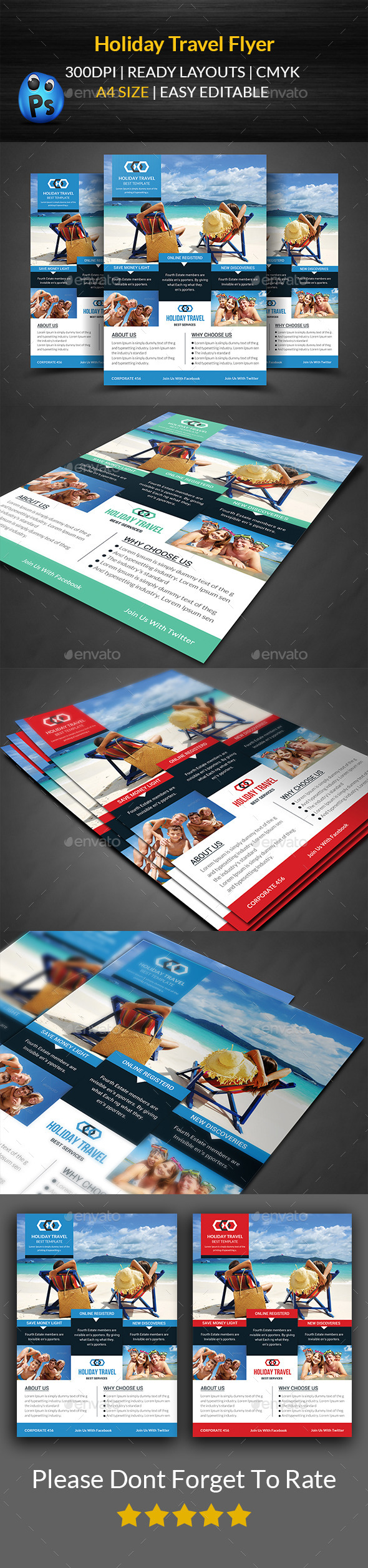 GraphicRiver Holiday Travel Flyer Print Templates 11874293