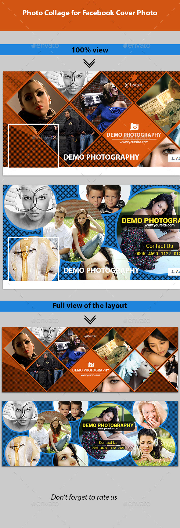 GraphicRiver Photo Collage for Facebook Cover Photo 11874393