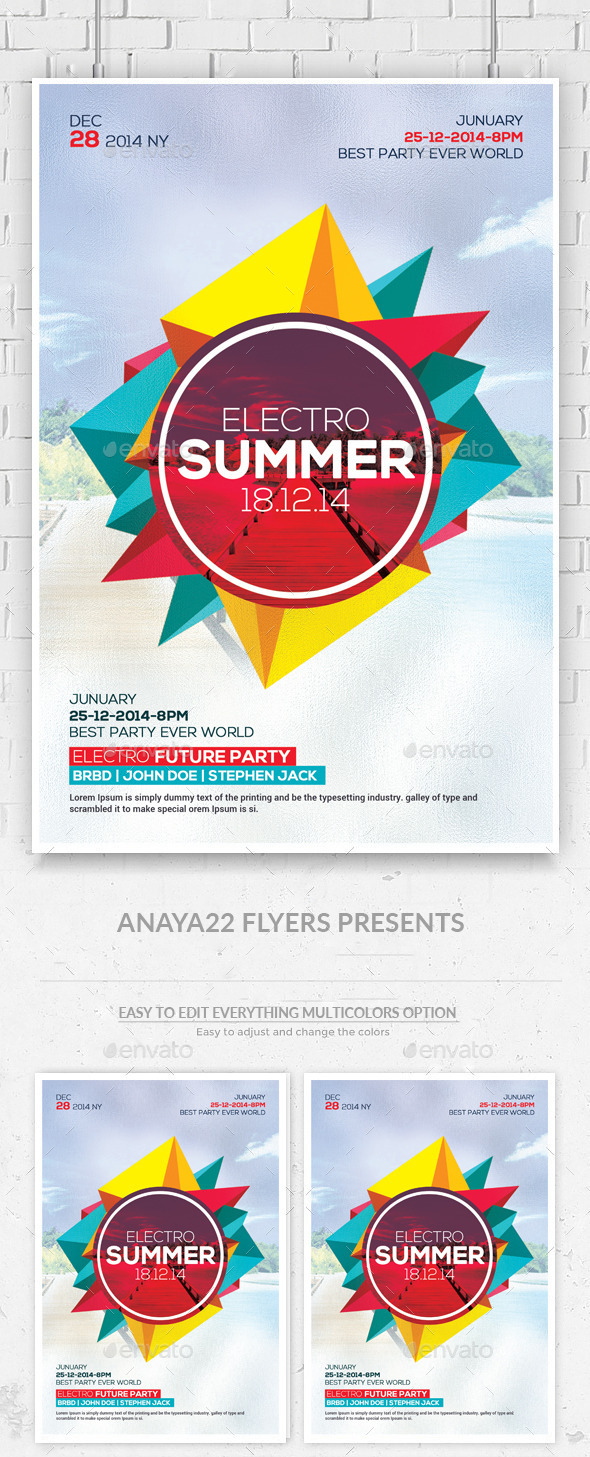GraphicRiver Summer Party Flyer Psd Templates 11874724