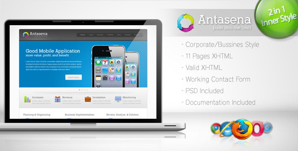 ThemeForest Antasena Corporate Business Template 4 144784