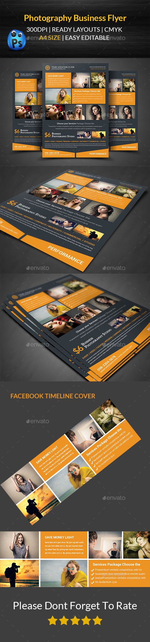 GraphicRiver Photography Studio Flyer Templates 11874754