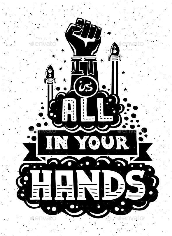 GraphicRiver Modern Flat Design Hipster Illustration With Quote 11874845