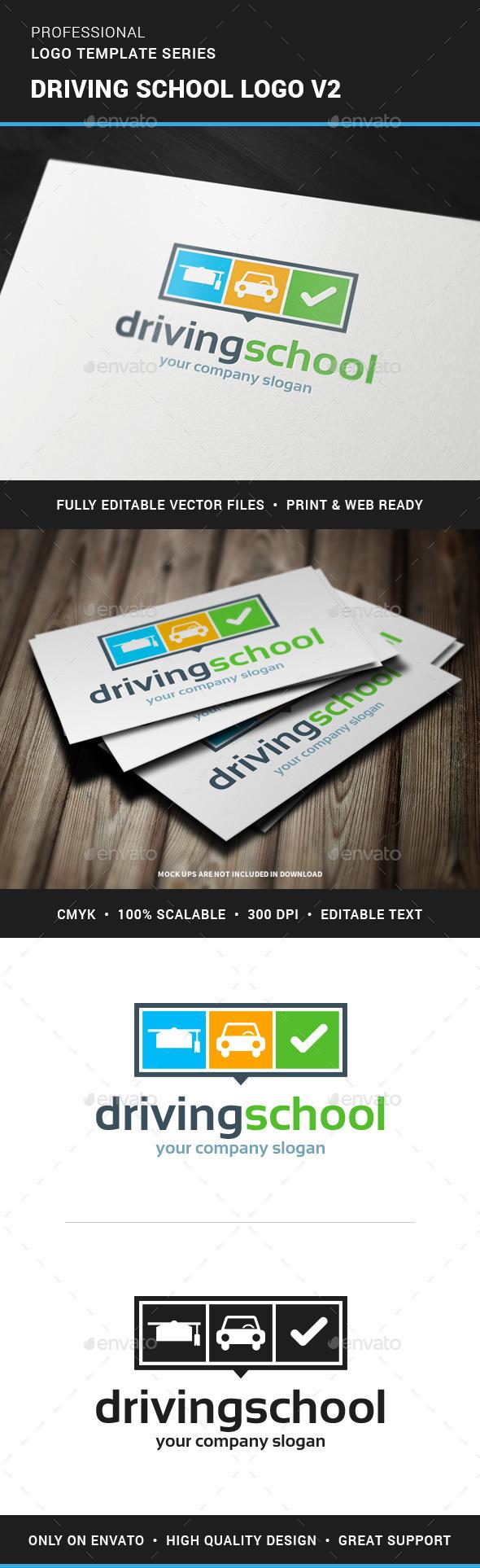 GraphicRiver Driving School Logo v2 11874942