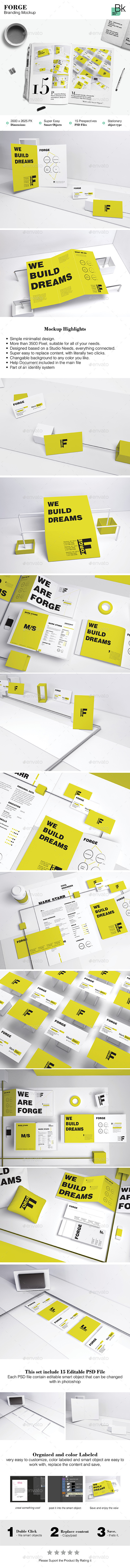 GraphicRiver Stationery Mockup Forge 11875138