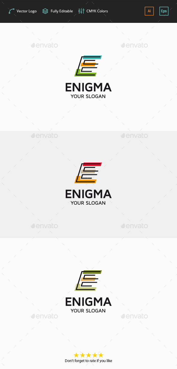 GraphicRiver Enigma Letter E 11875257