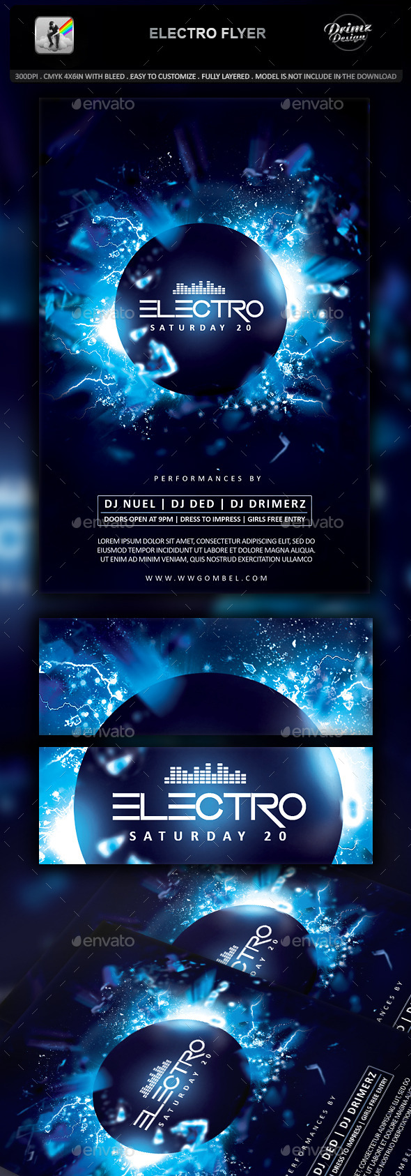 GraphicRiver Electro Flyer 11870437