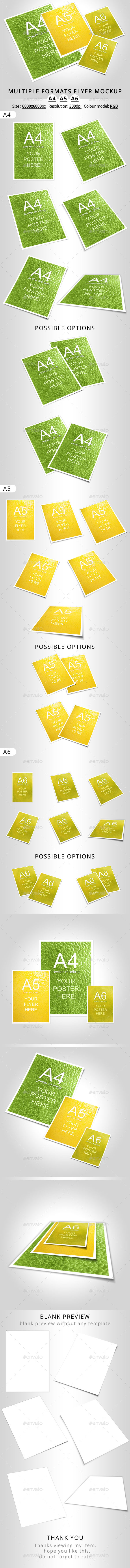 GraphicRiver Multiple Formats Flyer Mockup A4 A5 A6 11875466