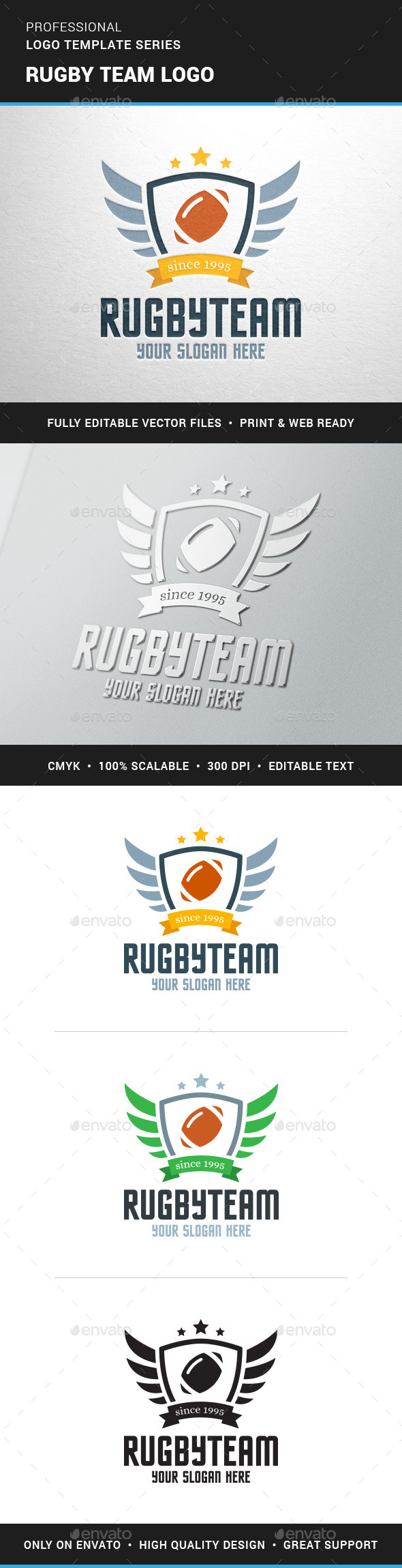 GraphicRiver Rugby Team Logo Team 11875561