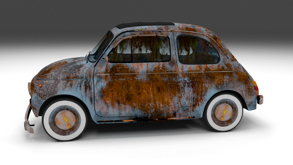 Weathered Fiat 500 Nuova - 3DOcean Item for Sale