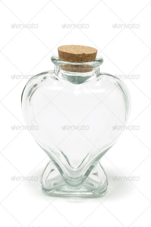 Heart Shape Bottle - Stock Photo - Images