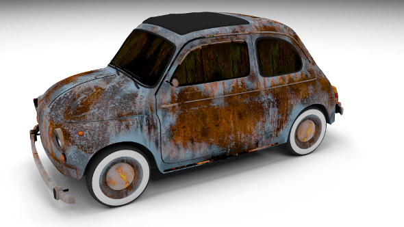 Rusty FIat 500 Nuova - 3DOcean Item for Sale