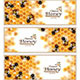 Honey Banners with Working Bees - GraphicRiver Item for Sale