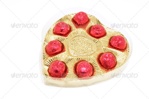 Heart-shaped Box of Chocolates - Stock Photo - Images