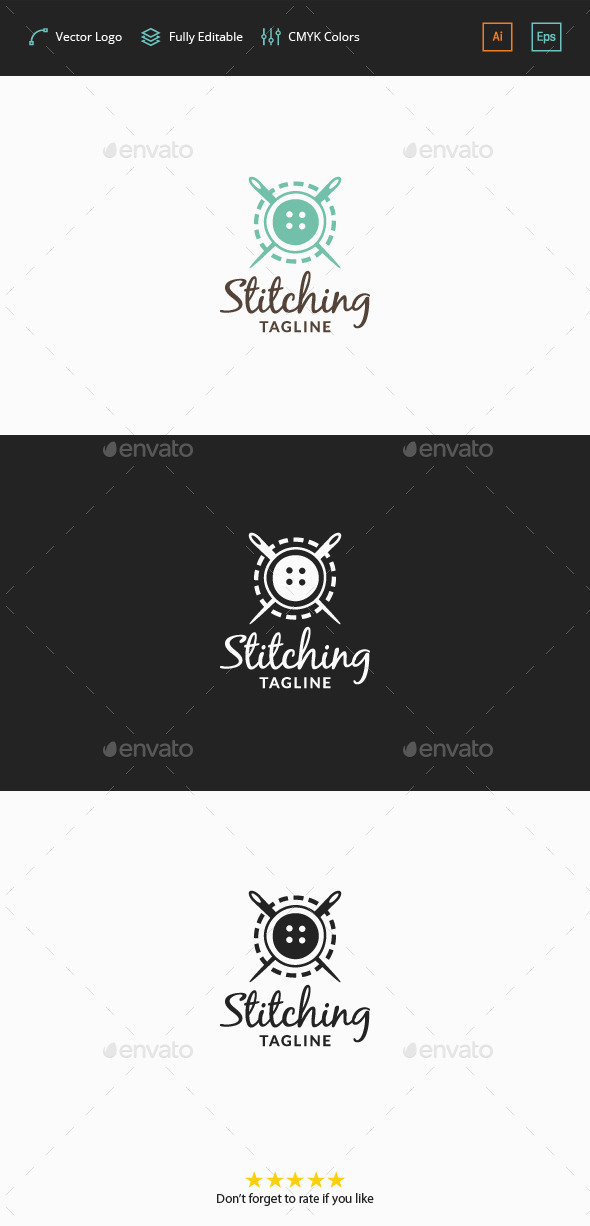GraphicRiver Stitching Logo 11876136