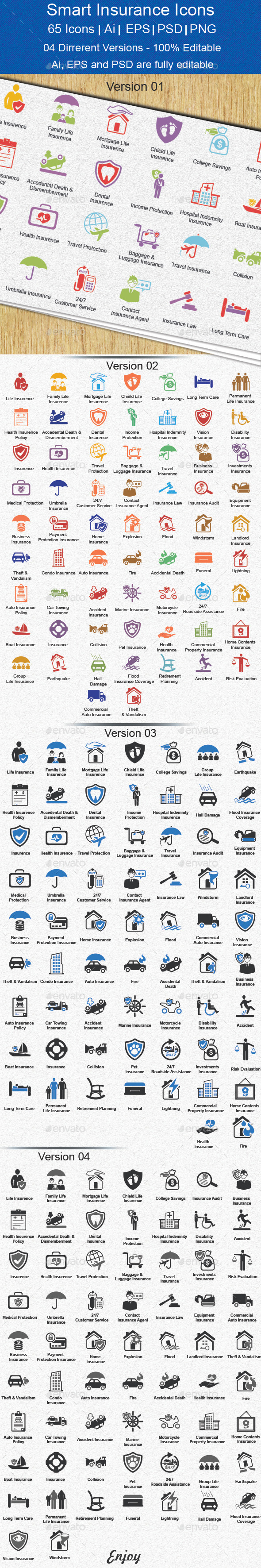 GraphicRiver Smart Insurance Icons 11876272