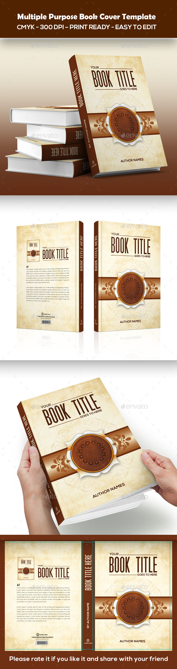 GraphicRiver Multiple Purpose Book Cover Template 11876277
