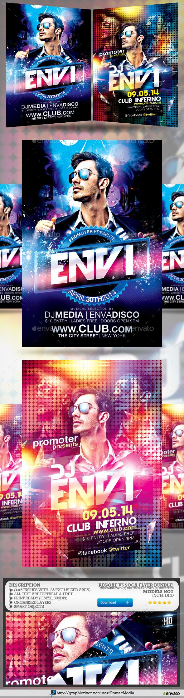 GraphicRiver Guest DJ Party Flyer Bundle 11876451