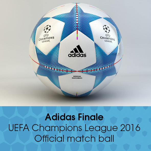 3DOcean Adidas Finale 2015 2016 Champions League Ball 11876468
