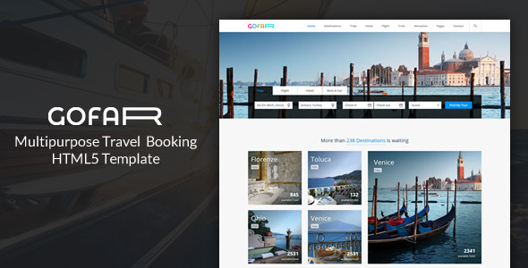 Gofar - Multipurpose Travel Booking Template