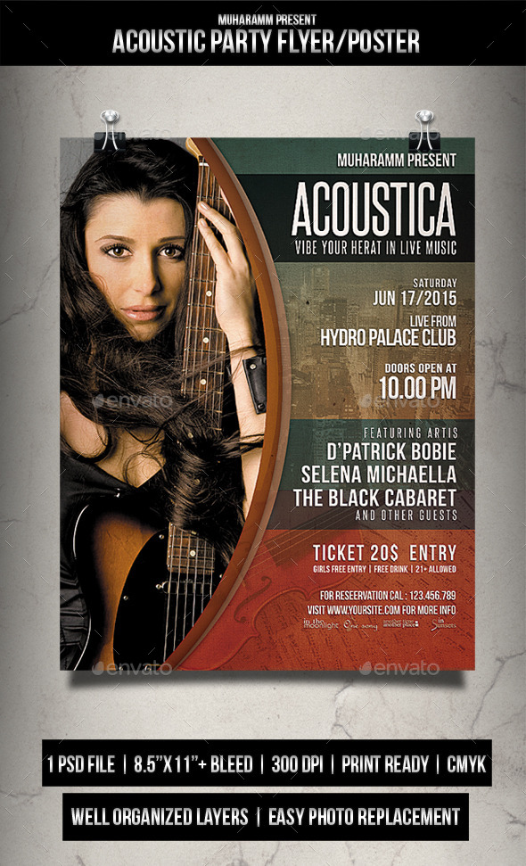 GraphicRiver Acoustic Flyer Poster Vol.3 11876514