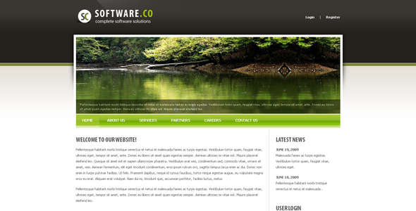 Image of Software Co Drupal Template