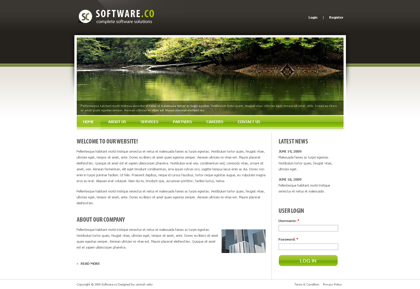 software co drupal template by settysantu themeforest. Black Bedroom Furniture Sets. Home Design Ideas