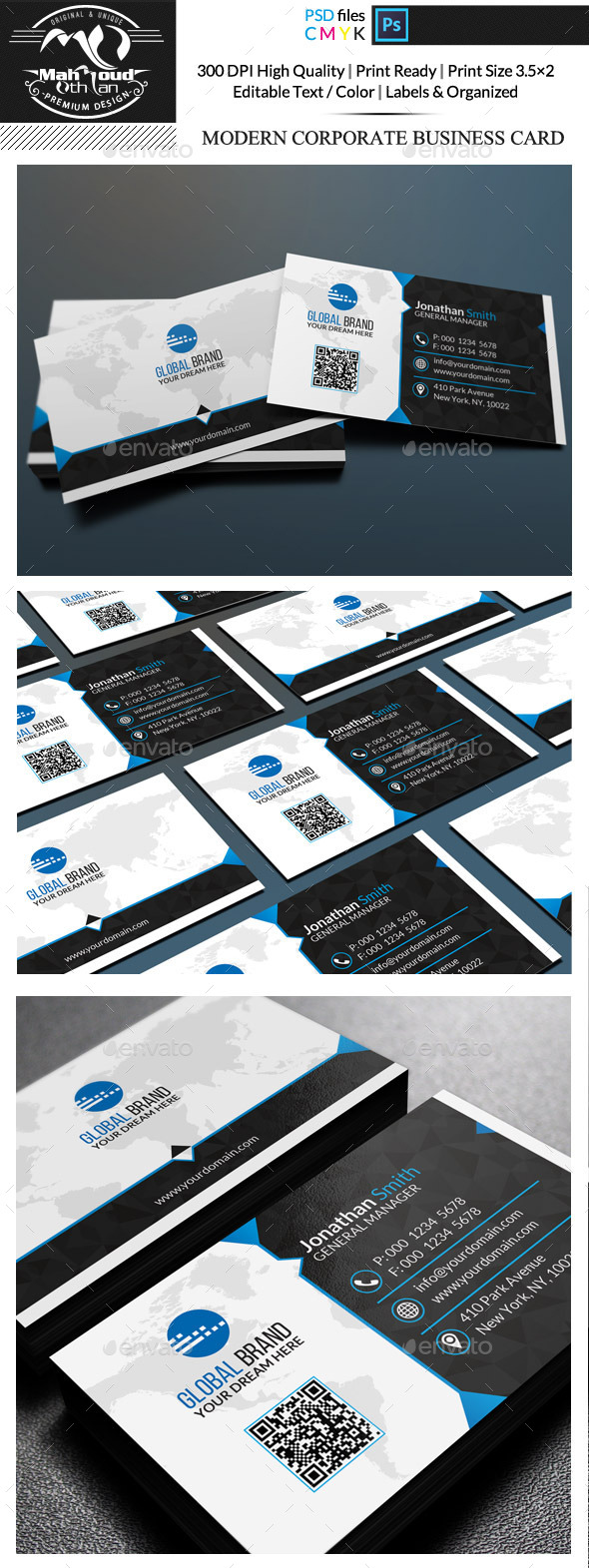 GraphicRiver Modern Corporate Business Card 11876675