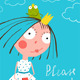 Little Princess with Prince Frog Reading - GraphicRiver Item for Sale