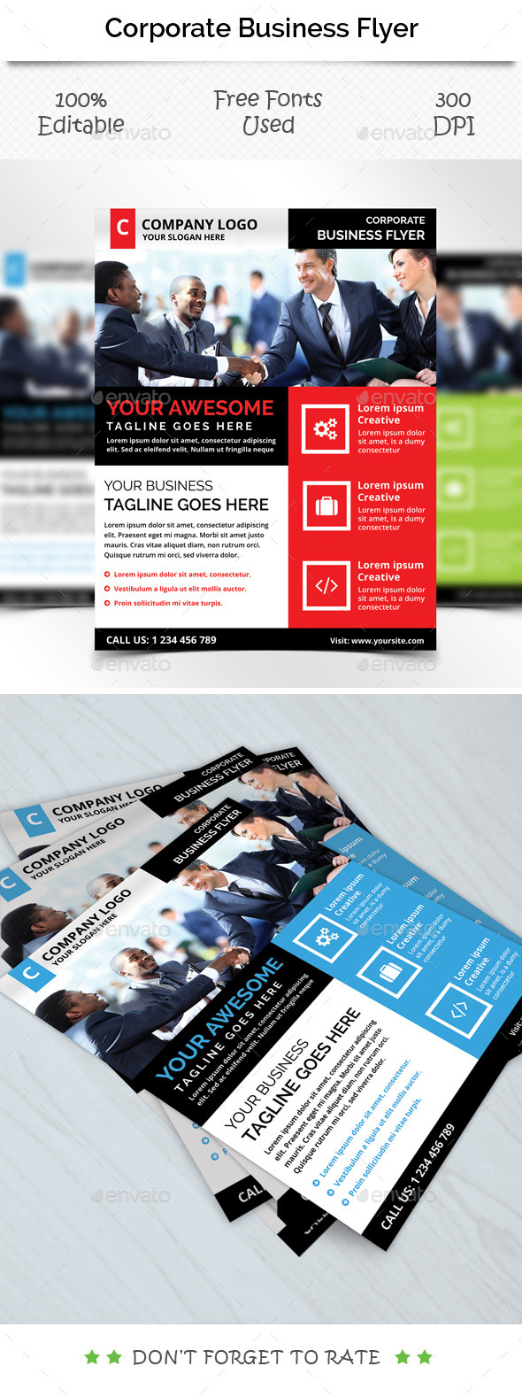 GraphicRiver Corporate Flyer Template V 3 11876699