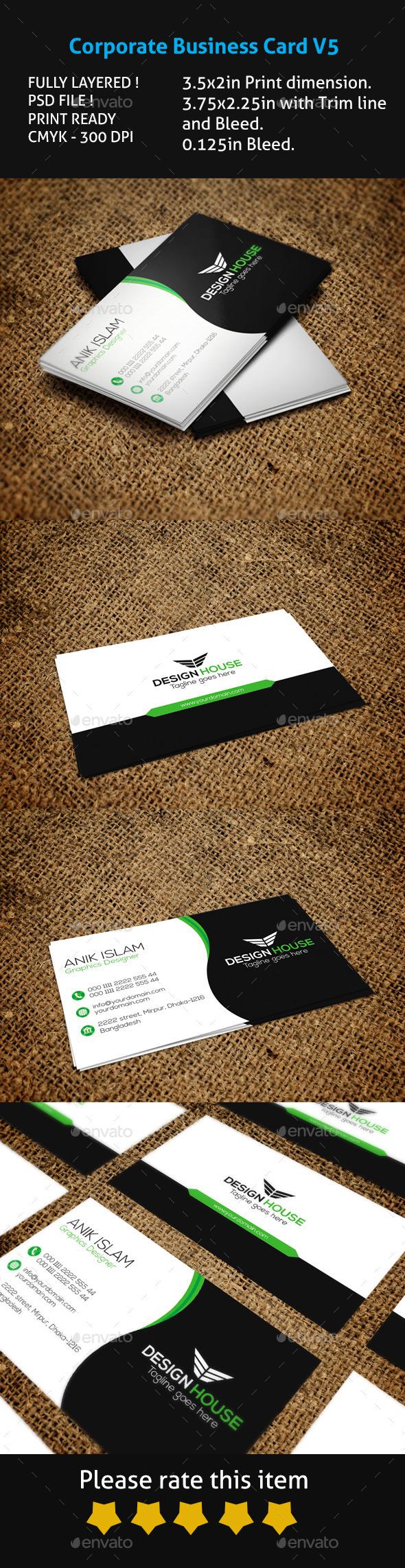 GraphicRiver Corporate Business Card V5 11876701