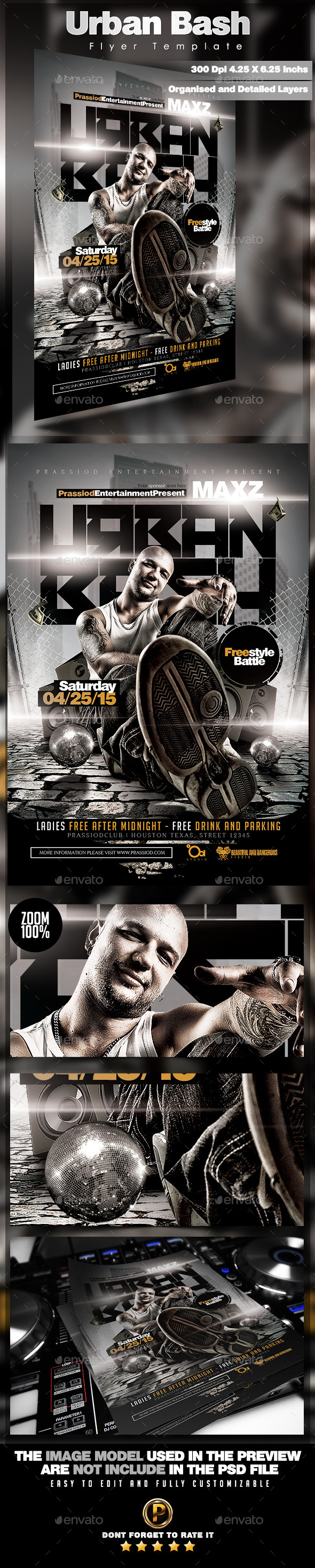 GraphicRiver Urban Bash Flyer Template 11876825