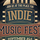 Indie Music Fest Flyer - GraphicRiver Item for Sale