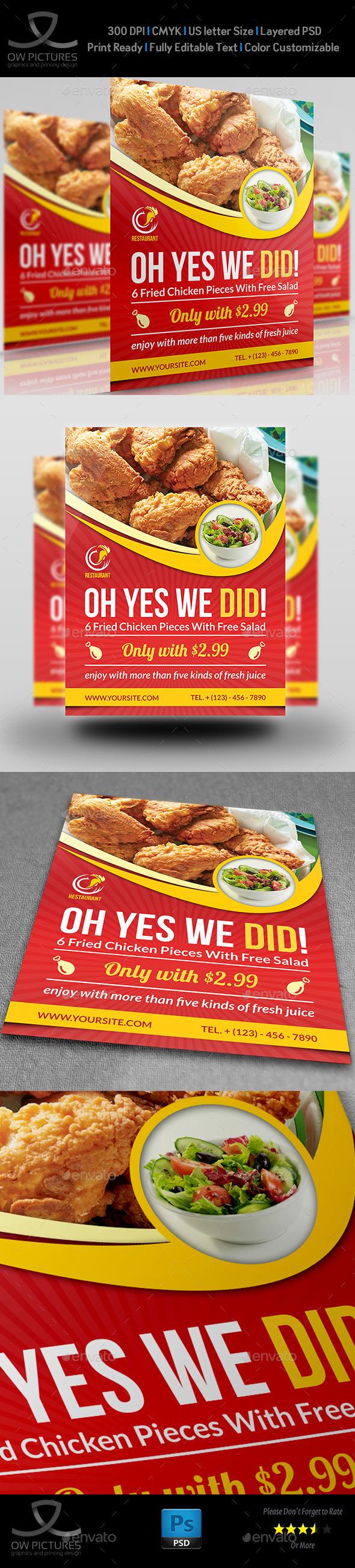 GraphicRiver Restaurant Flyer Template Vol.8 11877112