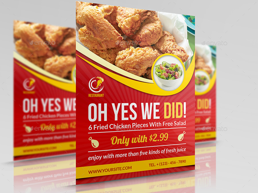 Restaurant Flyer Template Vol8 by OWPictures – Restaurant Flyers Templates