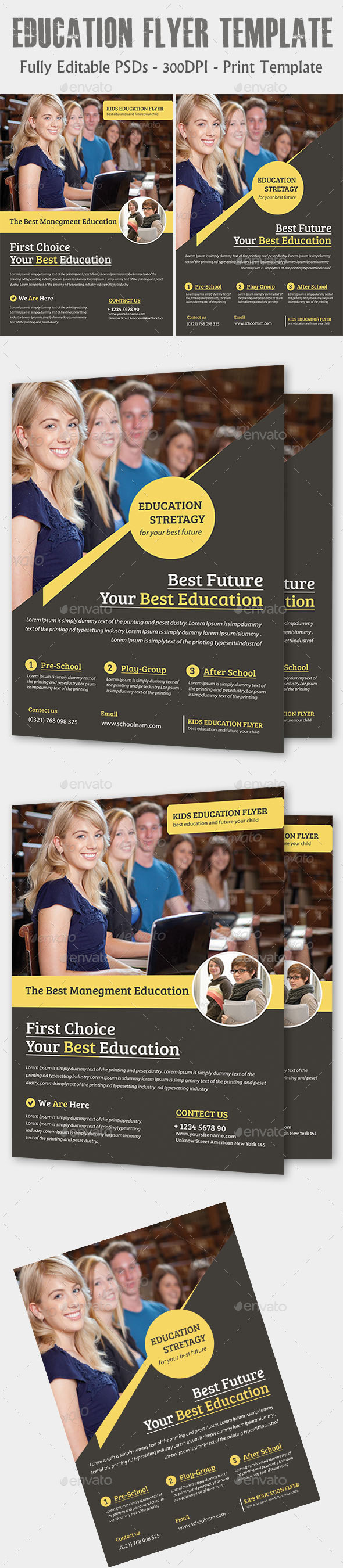 GraphicRiver Education Flyer Temp 11877436