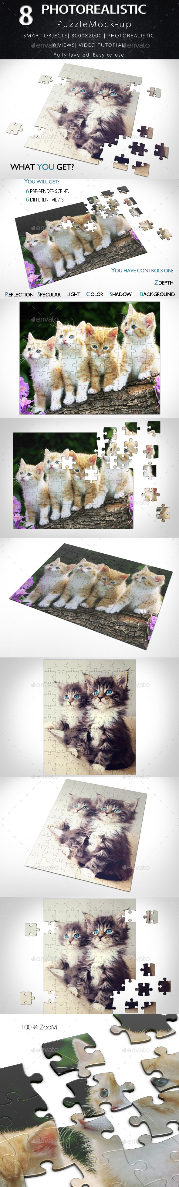 GraphicRiver Puzzle Mock Up 11877471