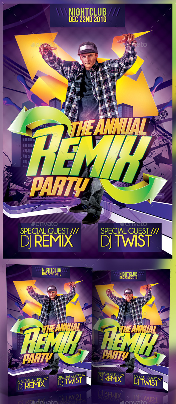 GraphicRiver Remix Party Flyer 11877547