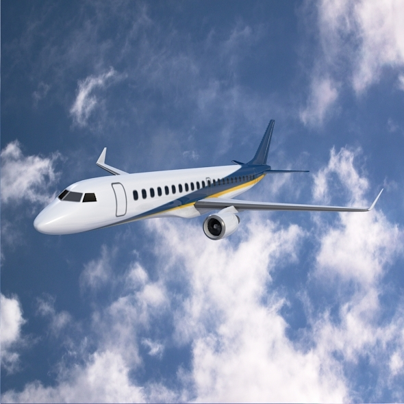 Embraer 190 commercial jet - 3DOcean Item for Sale