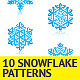 Ten Snowflake Patterns  - GraphicRiver Item for Sale