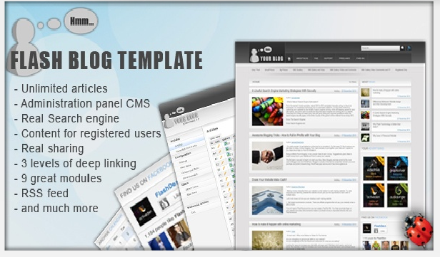 FLASH BLOG TEMPLATE