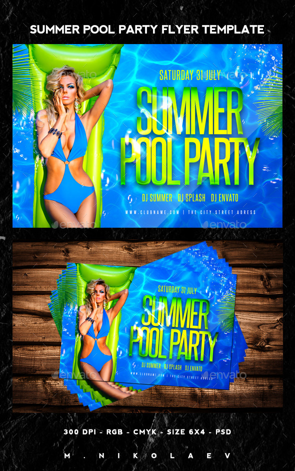 GraphicRiver Summer Pool Party Flyer 11871264