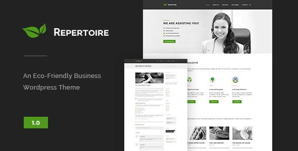 ThemeForest Repertoire Eco-Friendly Business Theme 11808367