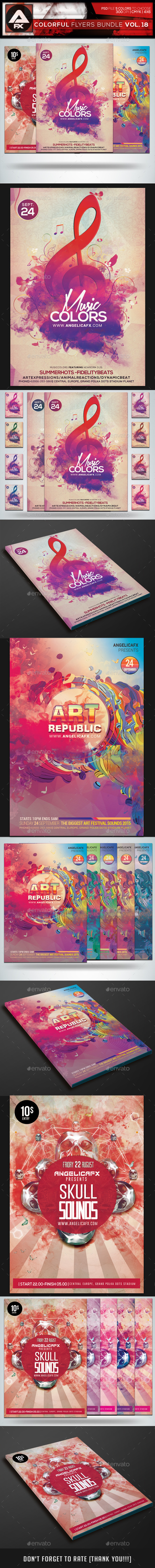 GraphicRiver Colorful Flyers Bundle Vol.18 11877914