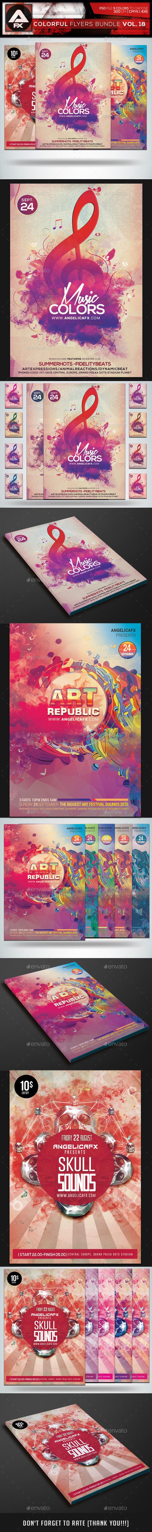 GraphicRiver Colorful Flyers Bundle Vol.18 11877914