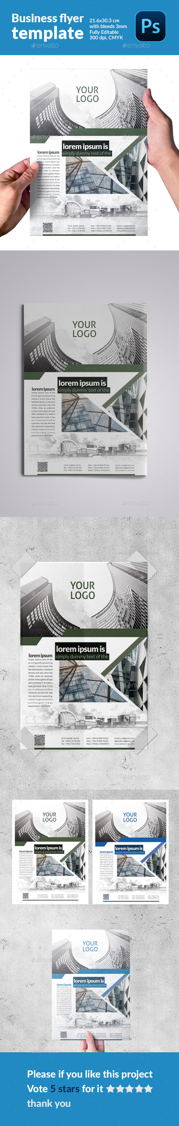 GraphicRiver Business flyer template 11877916