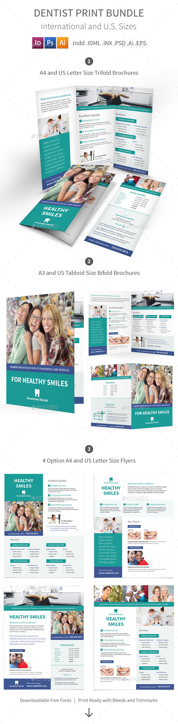 GraphicRiver Dentist Print Bundle 11878004